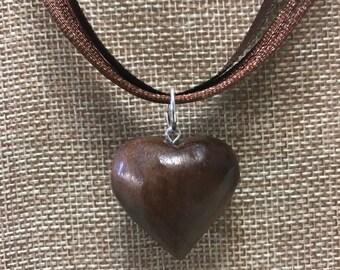 Walnut Heart Pendant