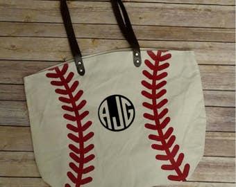 Personalized Baseball Tote Bag, Baseball Mom, Sports Bag, Football Tote Bag, Basketball Tote Bag, Soccer Tote Bag, Softball Tote Bag