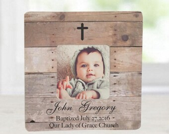 Baptism Gift Godson Goddaughter Godchild Dedication Christening Gift Personalized Picture Frame