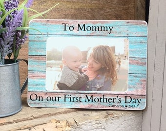 Mother's Day Gift Frame First Mother's Day Gift  Frame For Mom New Mom 4x6 Personalized Picture Frame