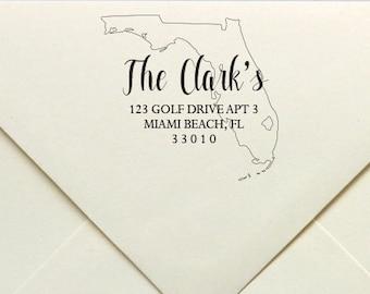 State Address Stamp, State Address Rubber Stamp, USA State Address Stamp