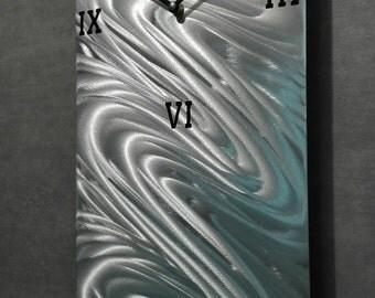 Large Wall Clock Modern Metal Wall Art Contemporary Metal
