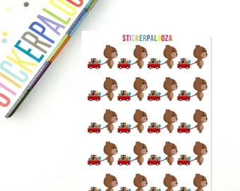 Mail Stickers, Package Stickers, Hand Drawn Stickers, Character Planner Stickers, Character Icon Stickers