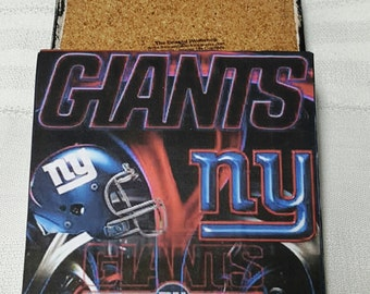 NY Giants Ceramic Tile Drink Coaster Set / Set of 4