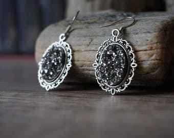 "Earrings ""Silver Crystal"""