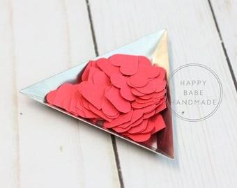 """Red Heart Confetti, Paper Confetti, 5/8"""", 100 Hearts, Confetti, Heart Confetti, Hand Punched, Valentine's Decor, Wedding Confetti"""