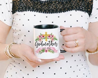 Godmother Mug - Personalized Godmother Coffee Mug - Mug for Godmother - Godmother Gift - Christian Mug - Custom Godmother Mug
