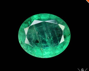 Emerald loose 1.33ct. Stunning gem! Natural Emerald cut Oval Shape fire green colombian Emerald stone faceted Crystal see VIDEO