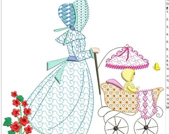 """Southern belle machine embroidery instant download 5 different sizes (3,4X3.4   4X4 5x5 6x6  7X7 """" hoop)"""