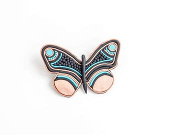 Butterfly Brooch, Boho Brooch, Animal Brooch Pin, Butterfly Brooch Pin, Unique Brooches and Pins, Brooch for Women, Graduation Gift for Her