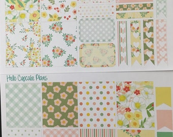 Cute Floral Small Set of Planner Stickers