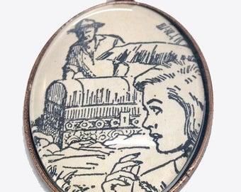 """Nancy Drew """"The Clue of the Black Keys"""" pendant"""