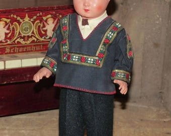 Celluloid Antique Doll Germany Boy - 2233