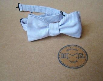 Adjustable tie Parma/white striped bowtie