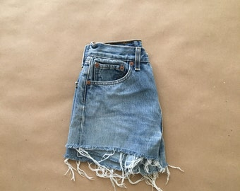 Levis High Waisted 501 Ripped Shorts Vintage Levi High Waisted Jean Shorts Hight Waist XS Shorts ...