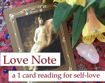 Love Note: A 1 Card Tarot Reading for Self-Love