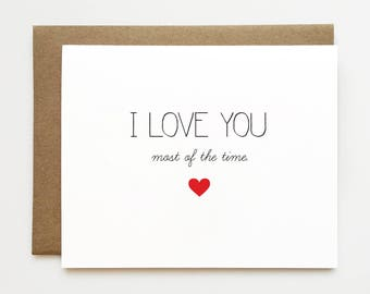 Funny anniversary card, Funny I love you card, Anniversary card for boyfriend, Best friend card, Cheeky anniversary card, Card for him
