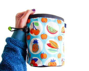Rock Climber Gift, Big Chalk Bag, Bouldering Bucket, Climbing Chalk Bag, XL size