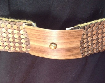 Vintage on elastic belt