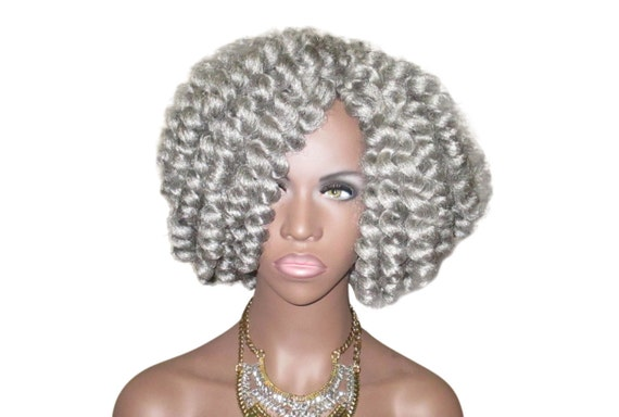 Crochet Hair Unit : ... Gray Miss Maisy Crochet Natural Hair Twist Out Kinky Curly Wig ...