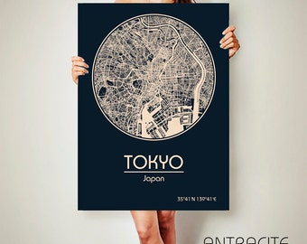TOKYO Japan CANVAS Map Tokyo Japan Poster City Map Tokyo Japan Art Print Tokyo Japan poster Tokyo Japan map art Poster Tokyo Japan map