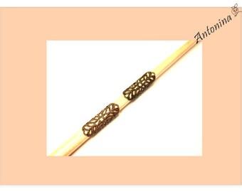 2 small Dreadtubes tubes bronze tubes dread jewelry Dreadbeads Dreadlock dread jewelry Dreadspiralen