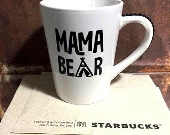 Mama Bear Bling Rhinestone Coffee Cup