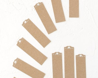 24 Kraft Paper Tags with Heart-Gift Enclosure-Wedding-Favor-Place Card-Ornament-Wrapping Idea-Scrapbooking-Decoration-Gift-Tags-Envelope