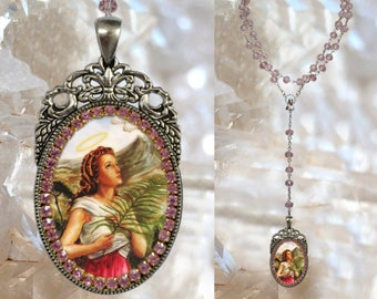 Rosary of Saint Agatha of Sicily – Patroness Against Breast Cancer; Bell Founders, Against Fire, Palermo, Rape Victims; Religious Medal