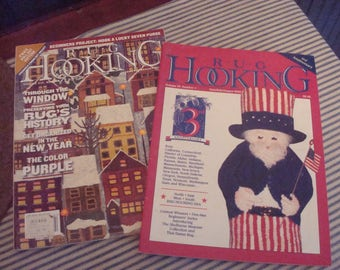 Two Rug Hooking Magazines