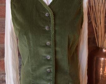 CORDUROY VEST Button Front Vest