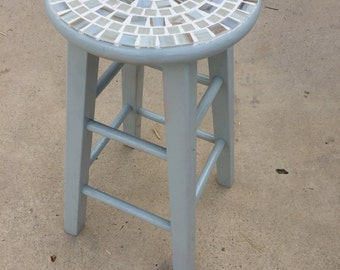 Mosaic-topped Stool