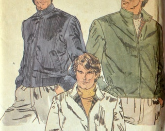 Uncut 1980s Vogue Vintage Sewing Pattern 7923, Size 42; Men's Jacket