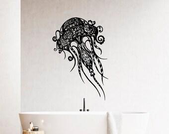 Jellyfish Decal Sea Life Wall Decals Bathroom Jelly Fish Vinyl