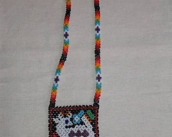 Huichol Grandfather Deer necklace