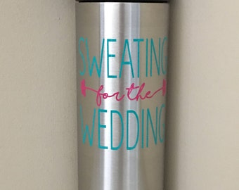 Sweating for the wedding /RTIC Water Bottle