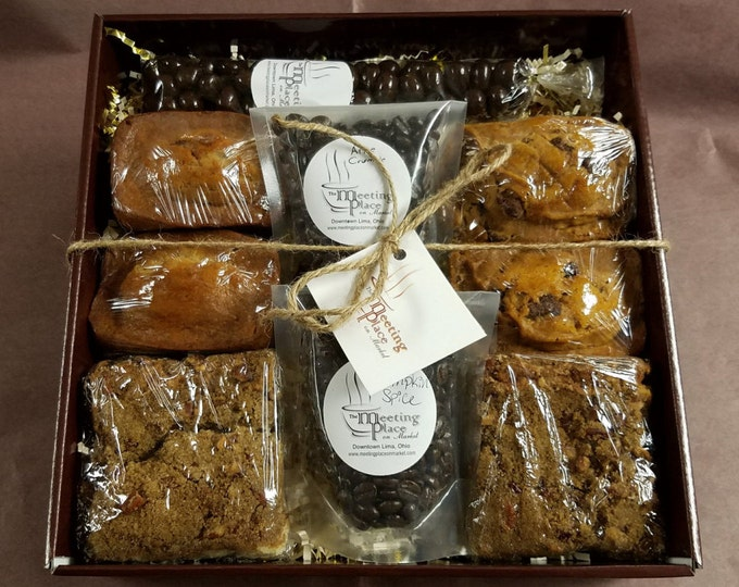 Gluten Free Breakfast Gift Basket, coffee, homemade baked goods, hostess gift, birthday gift, corporate gift, thank you gift, new home gift