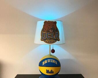 UCLA Bruins Lamp, UCLA basketball, basketball light, NCAA, basketball lamp, March Madness, man cave, night light, Bruins