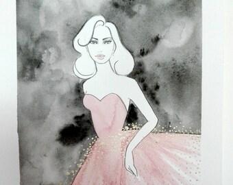 Sparkling - Original Watercolor