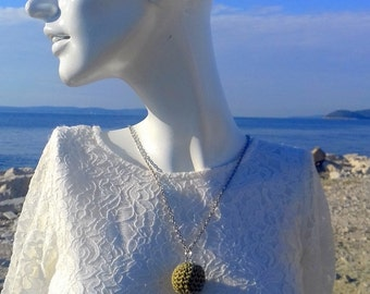 Crochet necklace, retirement gift, unique gift, bead necklace, knitted necklace, boho necklace, eco friendly, gift for her, Mothers day gift