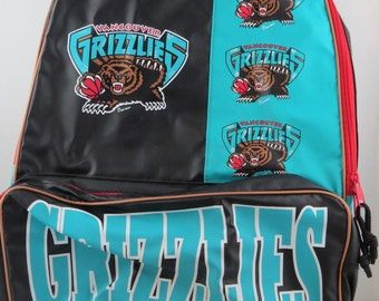 Vancouver Grizzlies Backpack (VTG) - Logo and Script Graphic - New With Tag