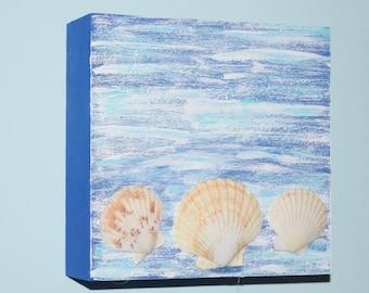 Beach house wall decor, Customizable beach sign, ocean wall, seashore decor, shore home decor, housewarming gift, nautical theme, blue ocean
