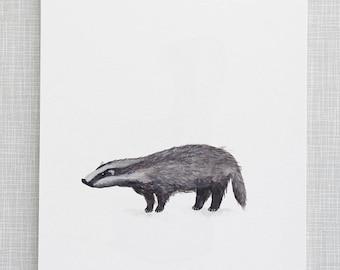 Badger Animal Print / Das Dierenprint