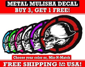 Metal Mulisha Skull Bumper Sticker