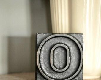 """Vintage letterpress woodblock """"O"""""""