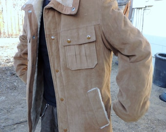 Vintage JCPenney Men's Winter COAT Brown Cozy Warm Jacket JC Penney Size Small- Medium