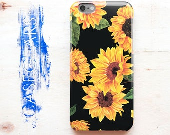 Sunflowers iPhone 7 Case Wood Floral iPhone 5c Case Flower iPhone 6 Case iPhone 7 Case Case Phone 6s Case iPhone SE Case iPhone Glossy Case