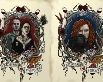 Hannibal 'Fannibal Forever' Tattoo Inspired Postcards - Set of 6