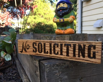 No Soliciting Sign. Home Decor | No Soliciting wood sign | No Soliciting Door Sign | No Soliciting