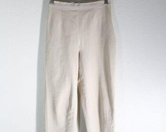 SALE VTG High Waist Tan Cotton Pant